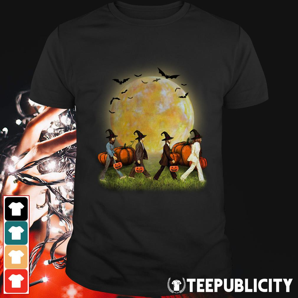 Abbey Road walking on the moon Halloween shirt