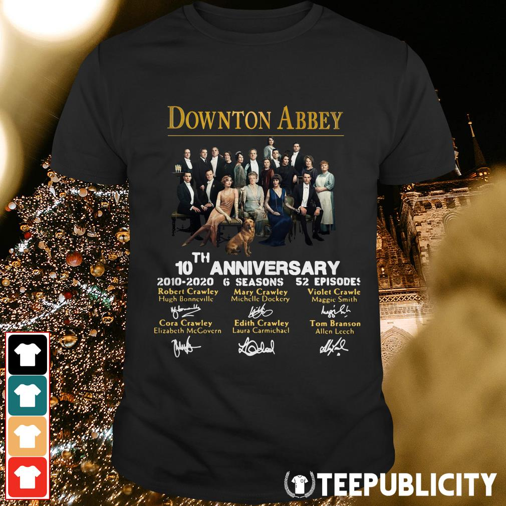 Downton Abbey 10th anniversary 2010 2020 6 seasons 52 episodes signature shirt