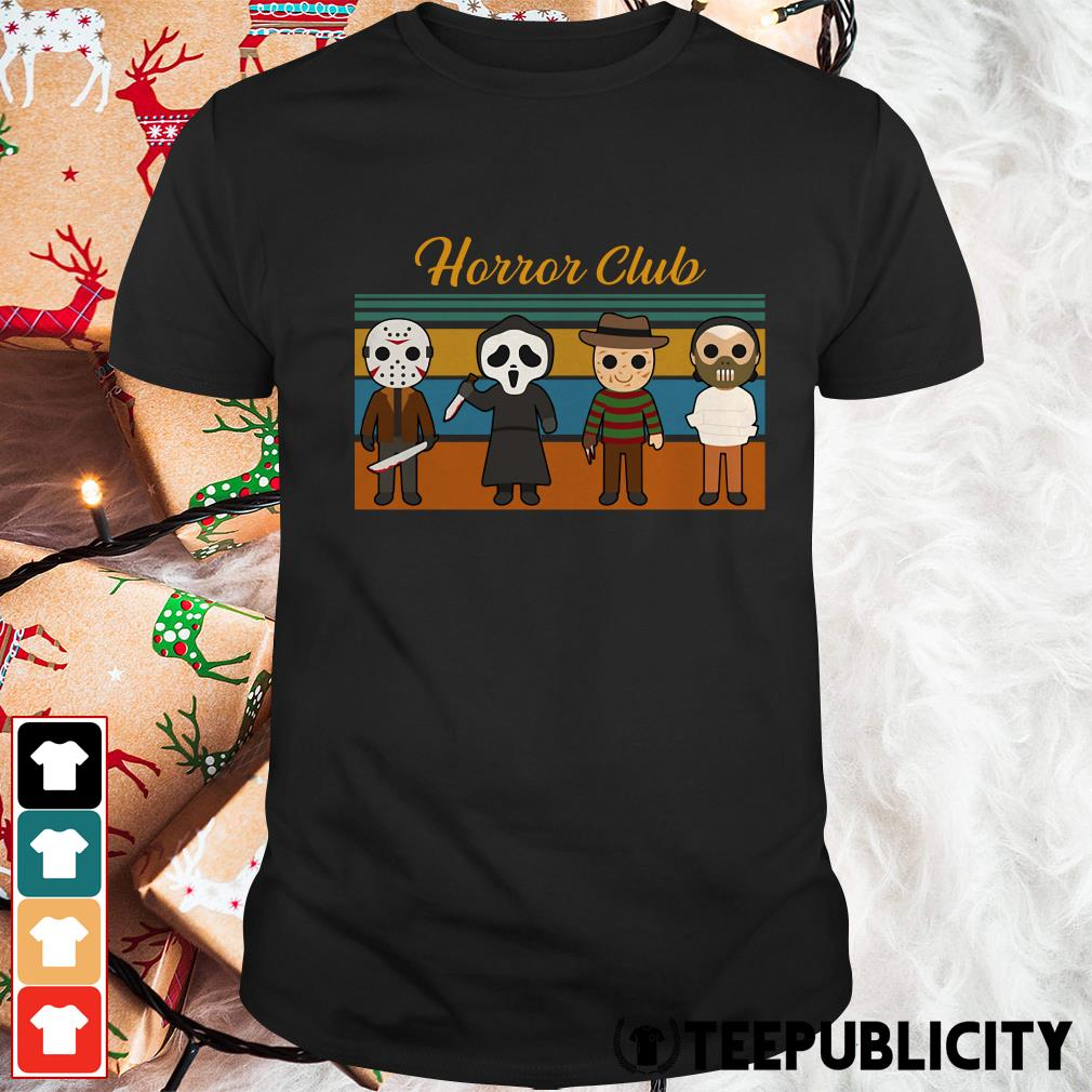 Official Halloween Horror club Horror character vintage shirt