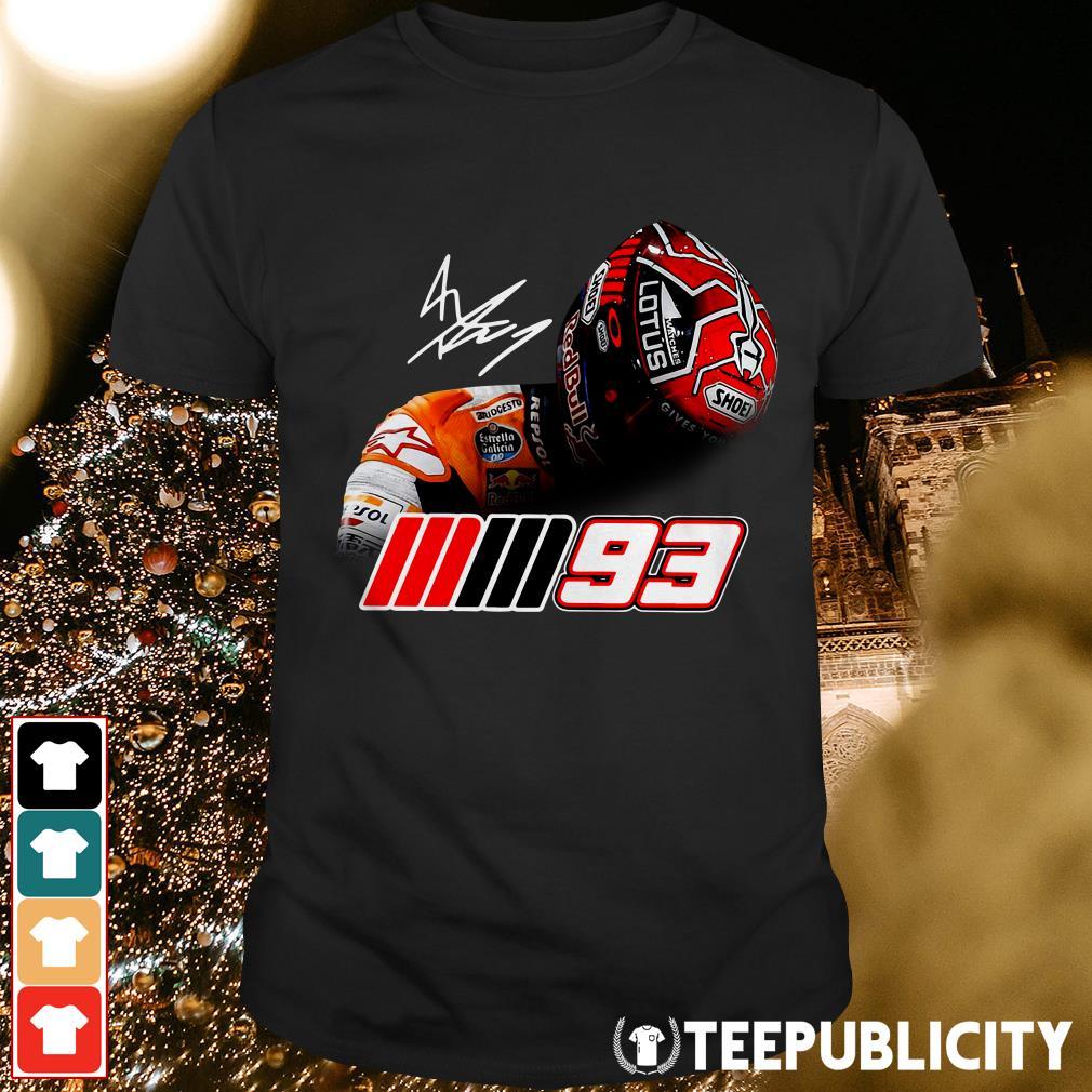 Official Logo of Marc Marquez MM93 signature shirt