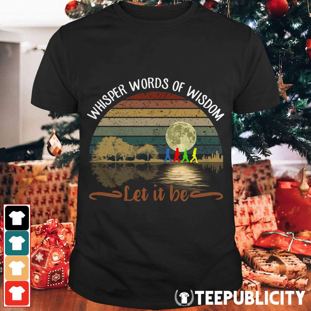 The Beatles Abbey road whisper words of wisdom let it be shirt