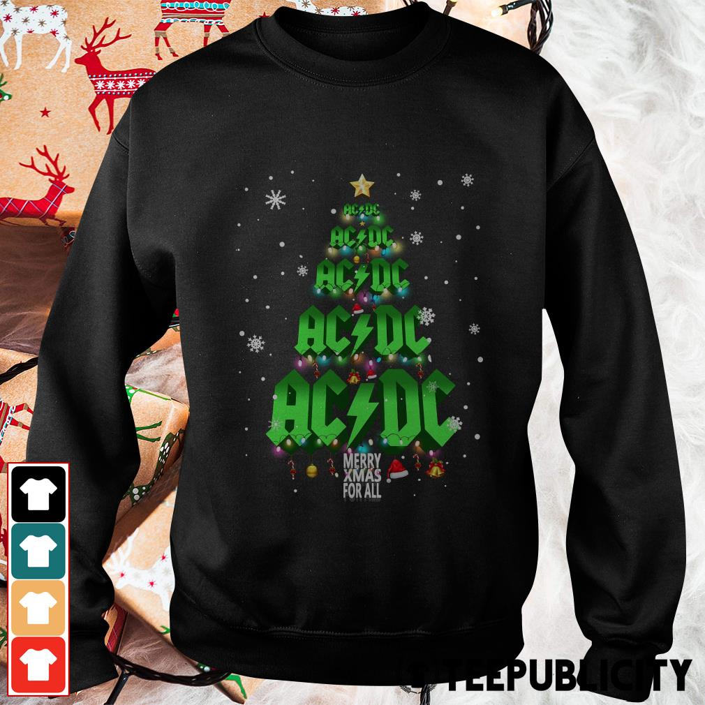 ACDC Merry Xmas for all Christmas tree Sweater
