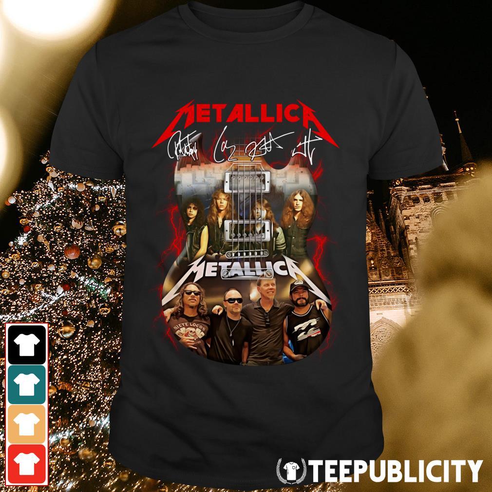 Guitar Metallica signatures shirt
