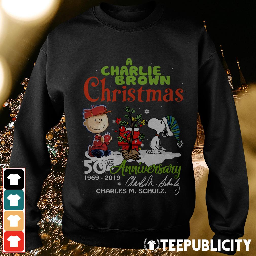 Official A Charlie Brown Christmas 50th Anniversary 1969-2019 signature Sweater