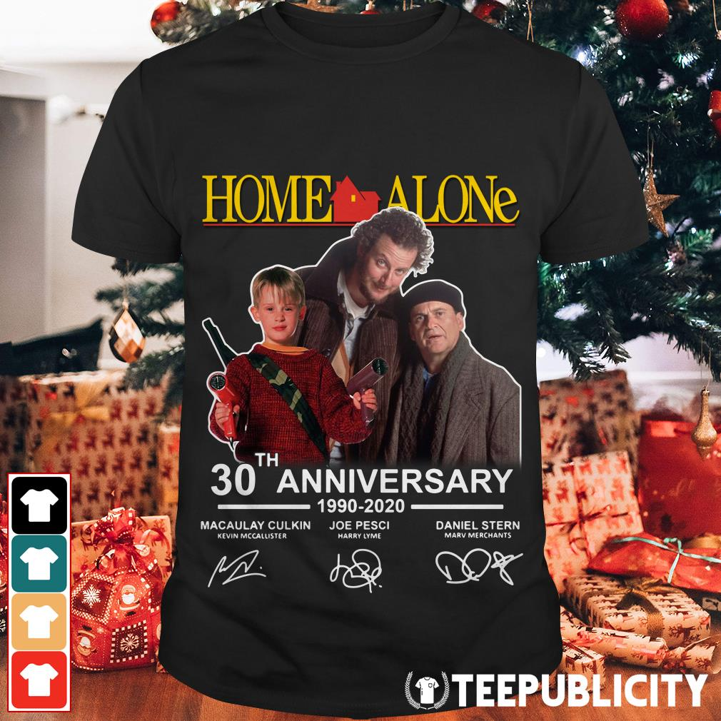 Home Alone 2020.Official Home Alone 30th Anniversary 1990 2020 Signatures Shirt