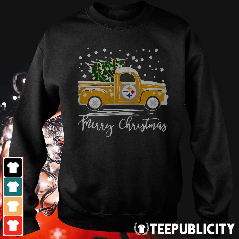 Pittsburgh Steelers pickup truck Merry Christmas Sweater