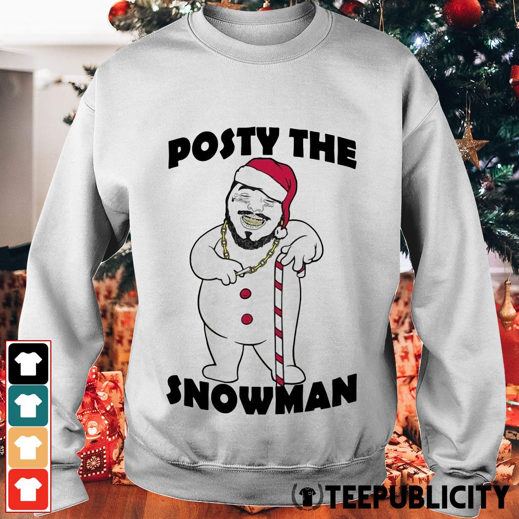 Post Malone posty the snowman Sweater