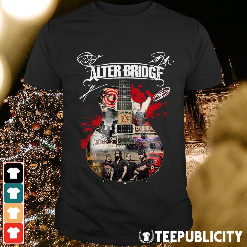 Alter Bridge guitarist signatures shirt