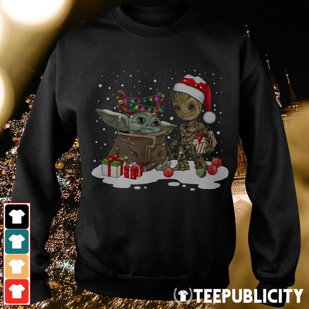 Baby Yoda and Groot Santa Christmas Sweater