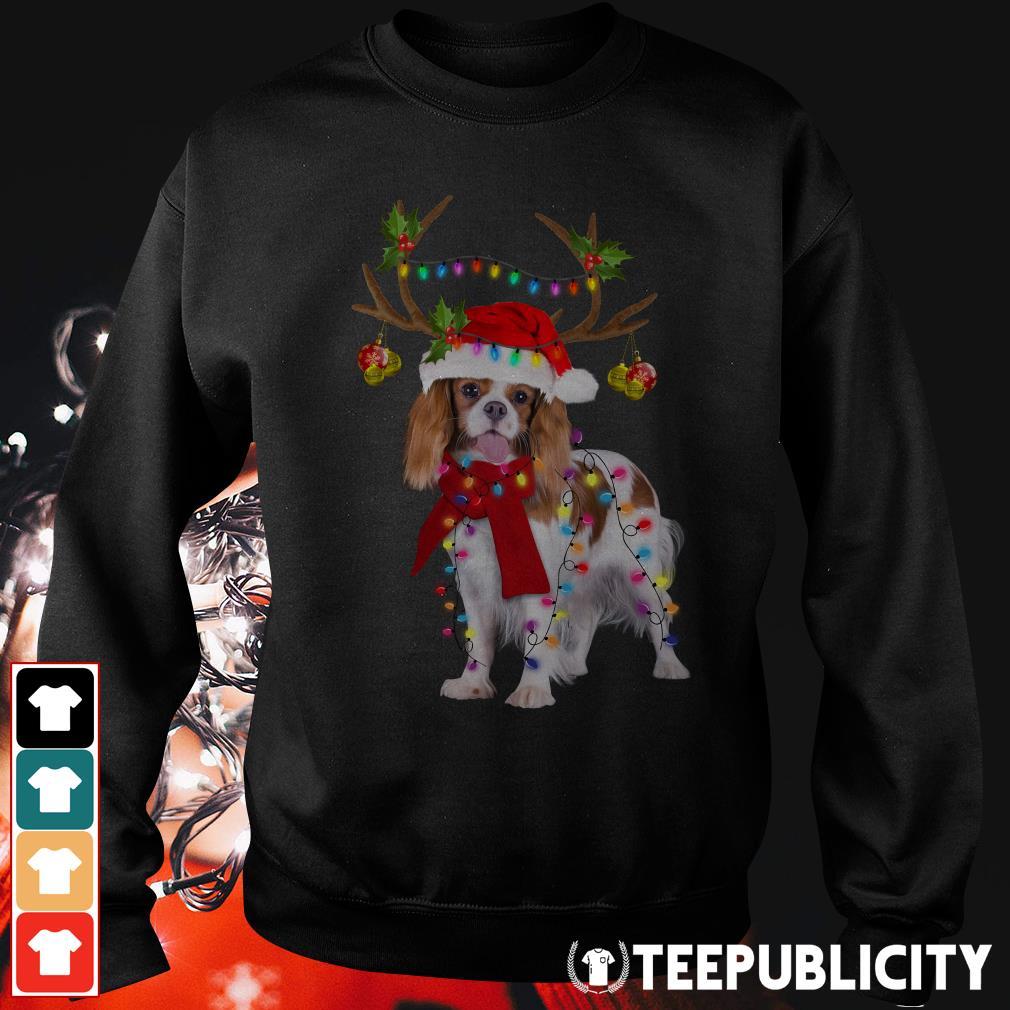 Cavalier King gorgeous reindeer Christmas Sweater