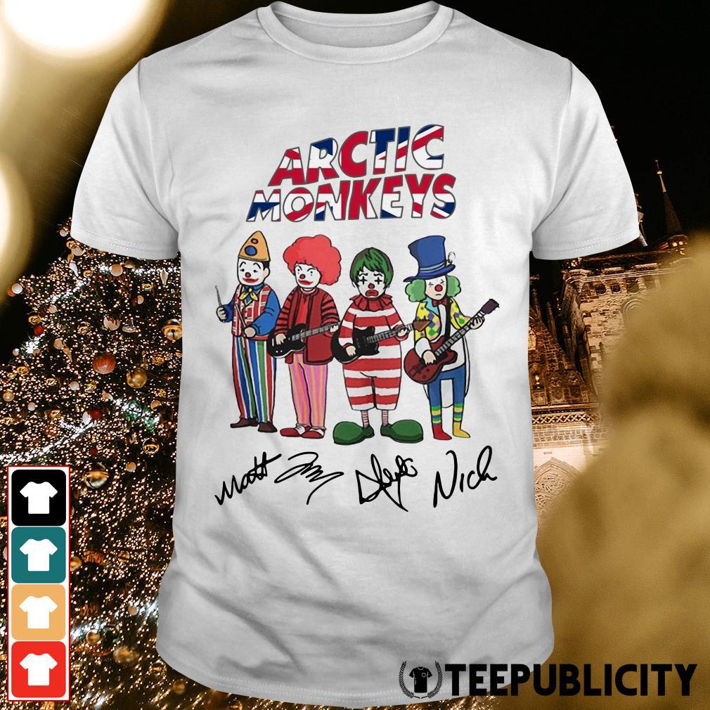 Clown Arctic Monkeys signatures shirt