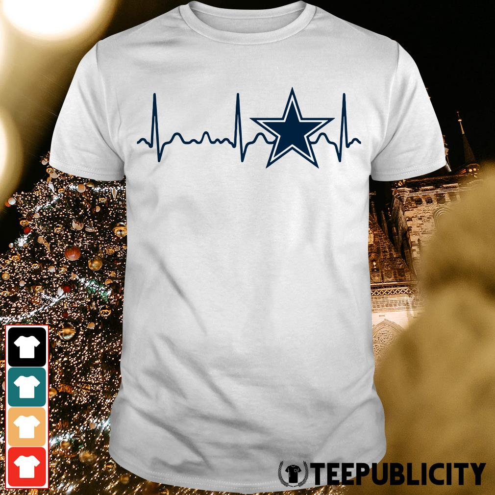 Dallas Cowboys heartbeat shirt