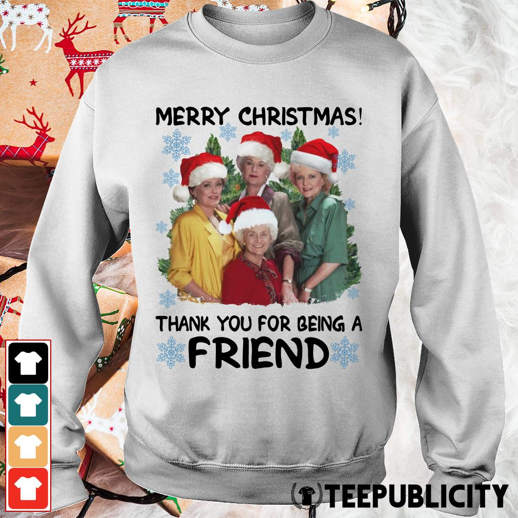 Official Golden girl merry Christmas thank you for being a friend Christmas Sweater
