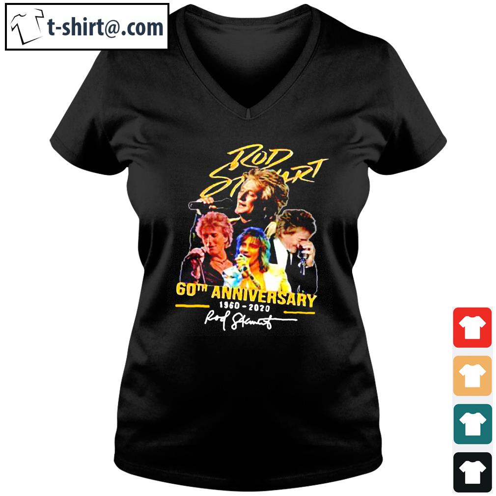 Official Rob Stewart 60th anniversary 1960 2020 signature s v-neck-t-shirt