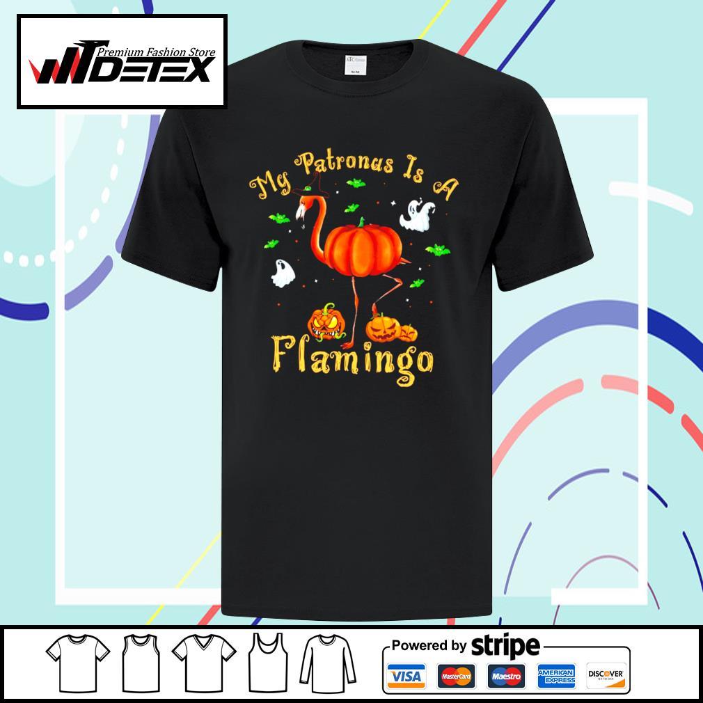 Halloween pumpkin my Patronus is a flamingo shirt