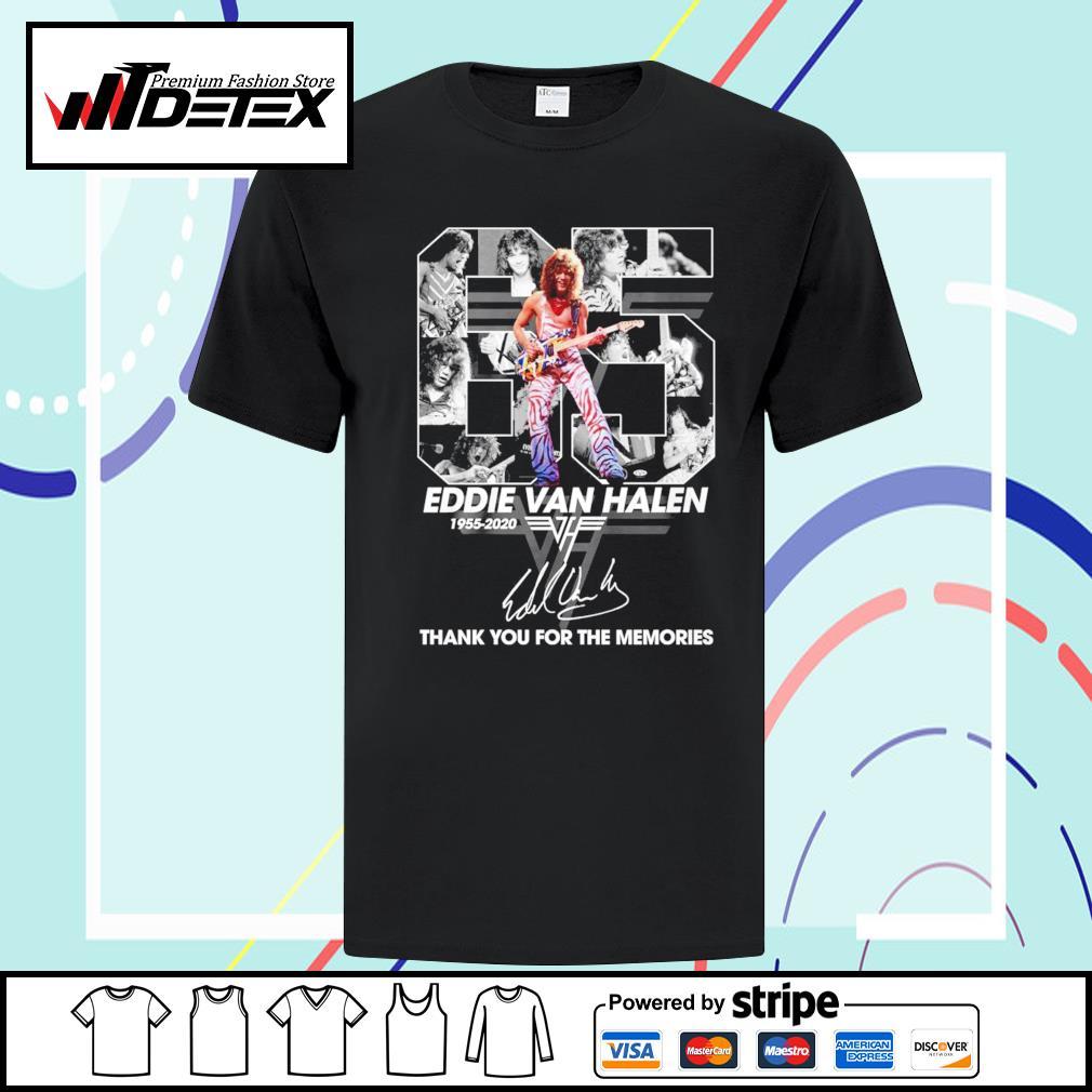 65 Eddie Van Halen 1955-2020 thank you for the memories signature shirt