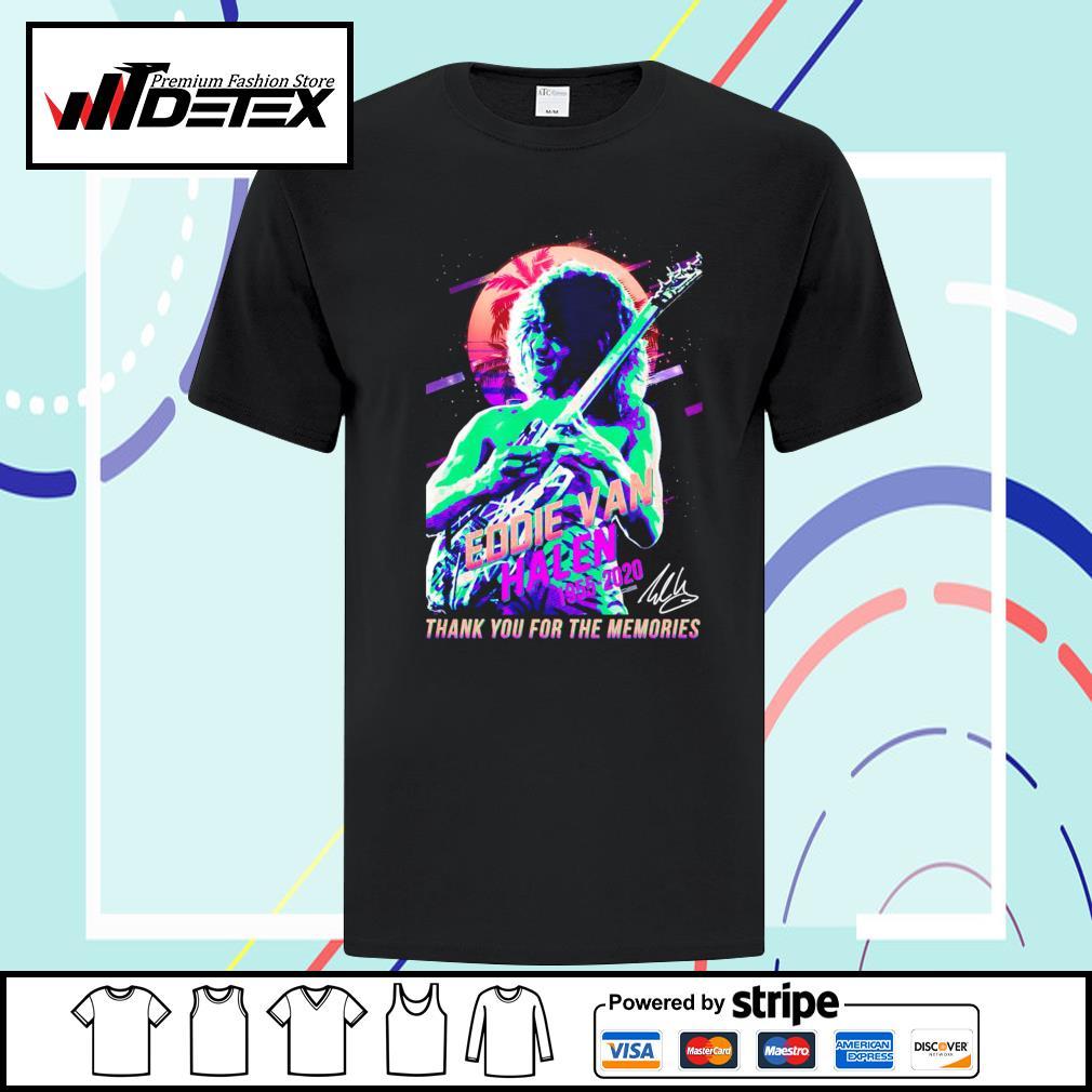 Eddie Van Halen 1955-2020 thank you for the memories T-shirt