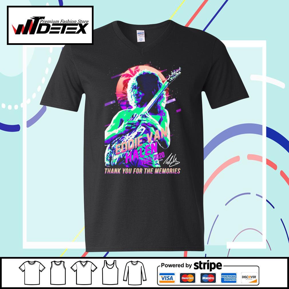 Eddie Van Halen 1955-2020 thank you for the memories T-s v-neck-t-shirt