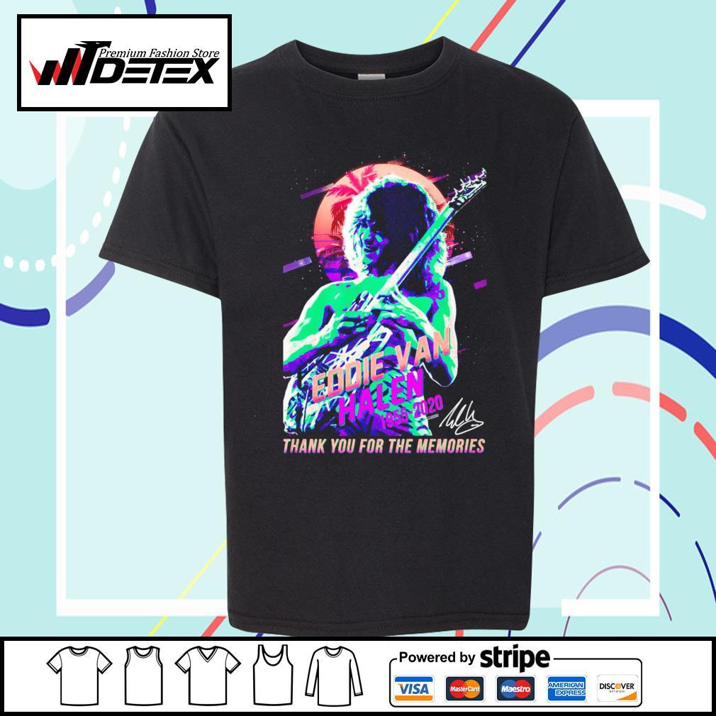 Eddie Van Halen 1955-2020 thank you for the memories T-s youth-tee