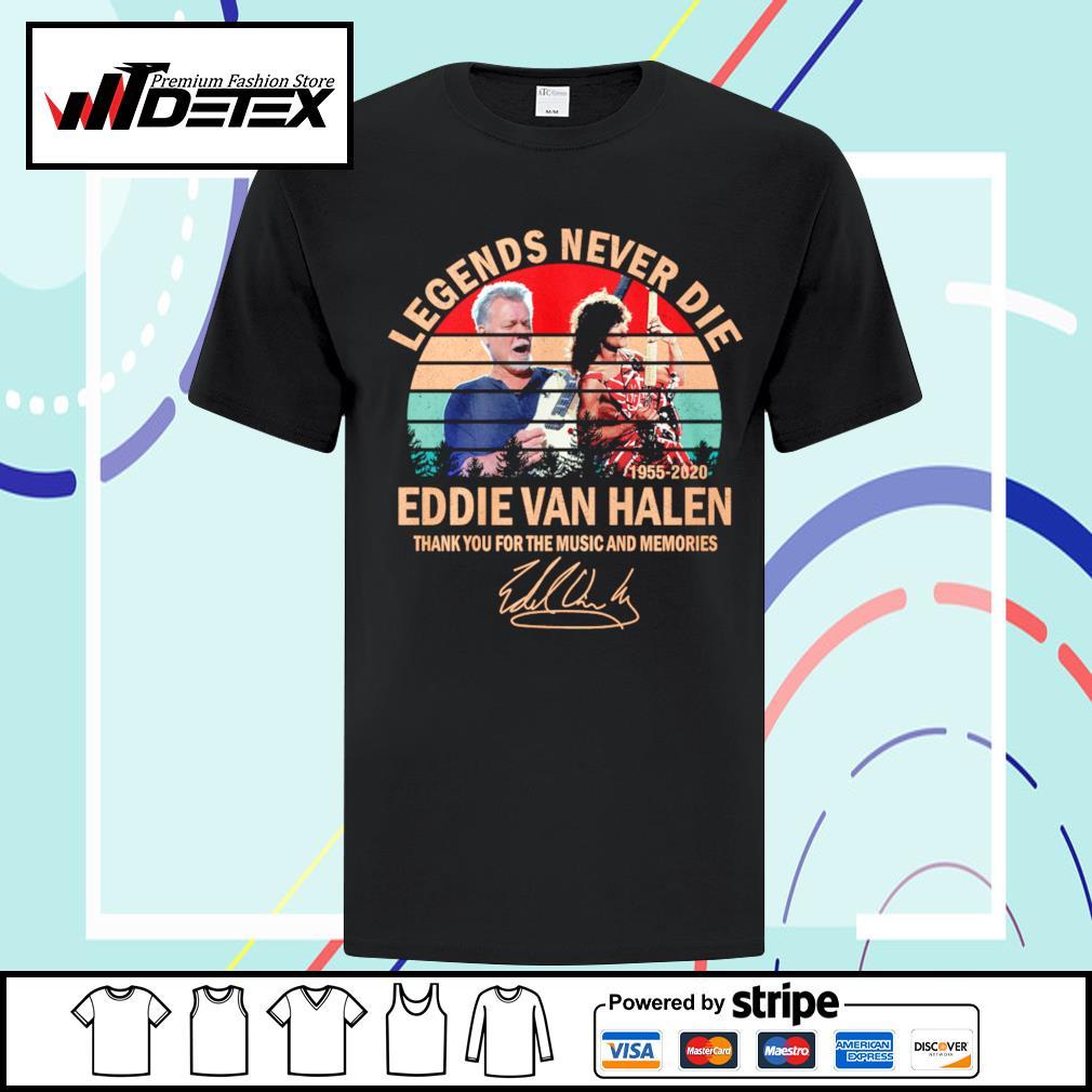 Legends never die Eddie Van Halen thank you for the memories vintage shirt